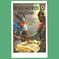 Postcard - King Alfred The Great - Ladybird Cover Postcard