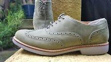 Cole Haan Wingtip Oxford Men's Shoes Size 9M Olive Suede