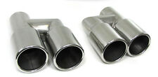 Pour Audi A4 S4 B7 8E Double Twin Exhaust Tip Tail extension pipe Tips pipes