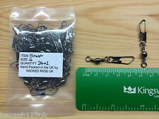 Size 4 American Snap Swivels.66lb(30 kg) Breaking Strain.Pack of 24 + free Gift.