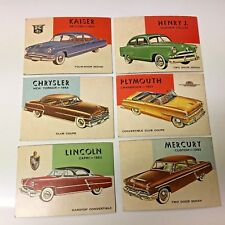 Topps World on Wheels lot of 6 AMERICAN CAR  CARDS