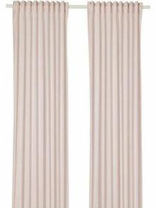 IKEA HANNALILL Gardine Gardinenpaar in rosa 145x300 cm Vorhang 2x Gardinenschals
