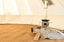 4M ULTIMATE CTS SILVER-GEM PACKAGE BELL TENT WOODBURNER CANVAS