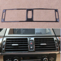 Carbon Fiber Central Console Air Vent Cover Trim Fit For BMW X5 E70 2008-2013