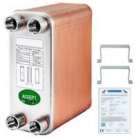 """3""""x7.5"""" Heat Exchanger Brazed Plate Heat Exchanger 60 Plate Heat Exchanger"""