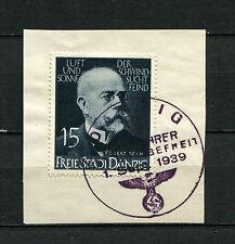 Danzig Stempel Typ HS 23.0 auf Nr. 307   (D1401)