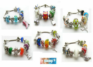 Fashion European Style Bracelets with Charms 21cm *Various Design* For Christmas