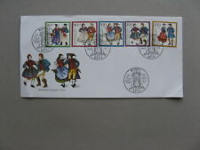 GERMANY BRD, cover FDC 1993, traditional costhumes dance, wohlfahrtsmarken