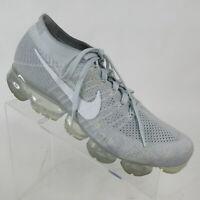 NIKE Air Vapormax Flyknit Running Shoes Pure Platinum Gray 849557-004 Womens 12