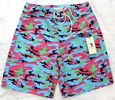 Duck Head Mens Neon Board Shorts Bathing Suit NWT $110 Size S