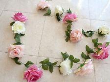 Rosengirlande/ Edelgirlande  rosa/creme/pink  ca .250 cm Kunstblumen