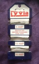 1 x LYVIA CONSUMER FUSE WIRE CARD 5A 5AMP 15A 15AMP 30A 30AMP DOMESTIC FUSEWIRE