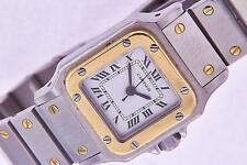 Cartier Santos Ladies Steel & Gold Automatic Vintage Watch Square