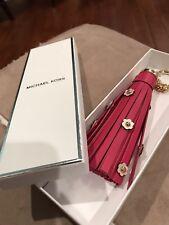 Michael Kors Unique Leather Tassel Key Fob/bag Charm In Gift Box Retail $68