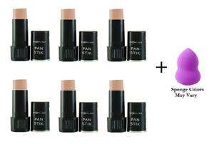 Max Factor Pan Stik  Creamy Makeup  9 gr, Medium #56 (6 Pack) + Makeup Sponge