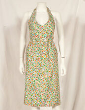 60'S FRENCH VINTAGE SUMMER FLOWER PRINT APRON TABLIER FREE SIZE