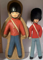 Vintage British Royal Guard Soldier Doll with Matching Box