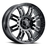 "17"" Inch 6x139.7 Wheel Rim Vision WARRIOR 375 17x8.5 +25mm Gloss Black"
