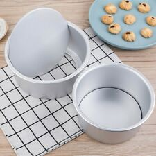 """2""""- 10"""" Round Mini Cake Pan Removable Bottom Pudding Mold DIY Baking Moulds Hot"""