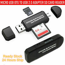 USB 2.0 Adapter SD/Micro SD Card Reader With Standard USB Male SDHC SDXC T-Flash