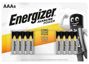 Energizer 8 Pack of AAA LR03 Long Lasting Power Alkaline Batteries Battery Pack