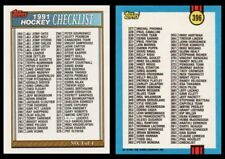 VINTAGE 1991 TOPPS HOCKEY CHECKLIST - # 3 OF 4 - NM/MT+ - UNMARKED - CARD # 396