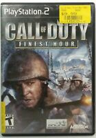 Call of Duty Finest Hour PS2 (Sony PlayStation 2) COMPLETE Black Label