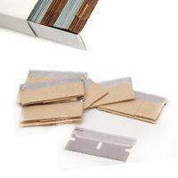 100 PACK Razor Scraper Blades Single Edge Box Cutter Knife Paint Glass Straight