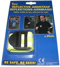 HI VIS FLUORESCENT REFLECTIVE ARM STRAP / ARM BAND - ONE SIZE FITS ADULTS & KIDS