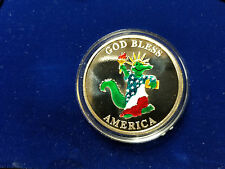 Rare UNC 2 Oz The Orleans Las Vegas .999 Silver Global Mint #1125 Enamel Gator