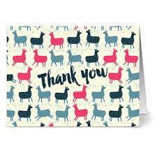 24 Note Cards - Alpaca Love Thank You - Gray Envs