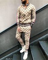 Men Jogger Tracksuit Casual Pants Jacket Sweatsuit Hip Hop Sweatshirt Thin Set