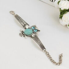 Women Stone Owl Design Charm Bracelet Ethnic Boho Bohemian Turquoise Jewelry S
