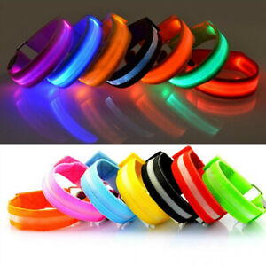 Outdoor Running Light Sports Wristbands Adjustable USB LED Runners Armband Gifts