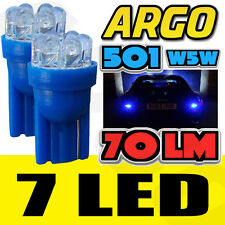 2 X 501 7 LED 8500K 70 Lumens Luz Lateral Bombillas Xenon Ice Cool T10 W5W 194