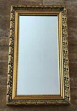 "Vintage Mirror 24 x 13"" Gold Hollywood Regency framed rectangular Gilt baroque"