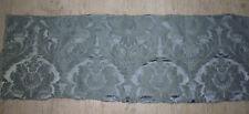 tissu french textile ameublement damas gris fleur style 18e Régence ? 128x53 C2