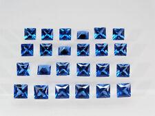 Dark Aquamarine Blue Square Princess Cut SIZE CHOICE Loose Spinel Gemstones