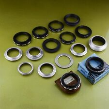 huge LOT of reverse adapter macro rings, MINOLTA PENTAX M35.5, M42, M49, NF ☆☆☆