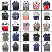 LEQUEEN Waterproof Mummy Nappy Diaper Bag Large Capacity Travel Backpack Bag