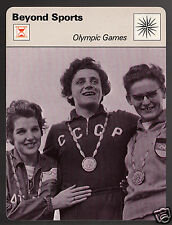 IRINA PRESS Russia Athlete Gender Tested 1960 Olympics 1978 SPORTSCASTER CARD