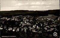 Schömberg Schwarzwald alte Postkarte 1956 Gesamtansicht Wald Wiesen Luftaufnahme