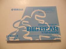 Yamaha Owners Manual 2001 YFM400NN Big Bear LIT-11626-14-22