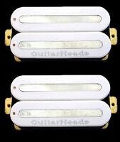 Guitar Pickups - GUITARHEADS MEGAMETAL HUMBUCKER - Bridge Neck SET 2 - WHITE