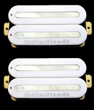 Guitar Pickups - GUITARHEADS MEGAMETAL HUMBUCKER - Bridge Neck SET 2 - WHITE