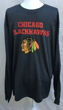 Chicago Blackhawks Long Sleeve Shirt Adult XL NHL Officially Licensed Polyester