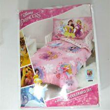 Disney Princess Toddler Bedding Set, 4 Piece Set, Pink