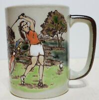 Vintage Otagiri Lady Golfer Mug Coffee Mug Cup