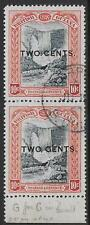 British Guiana stamps 1889 SG 223b ERROR: Gents +223 in PAIR CANC VF