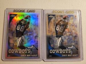 2010 Topps Chrome Dez Bryant Rookie Lot Refractor + Base + 2013 Select
